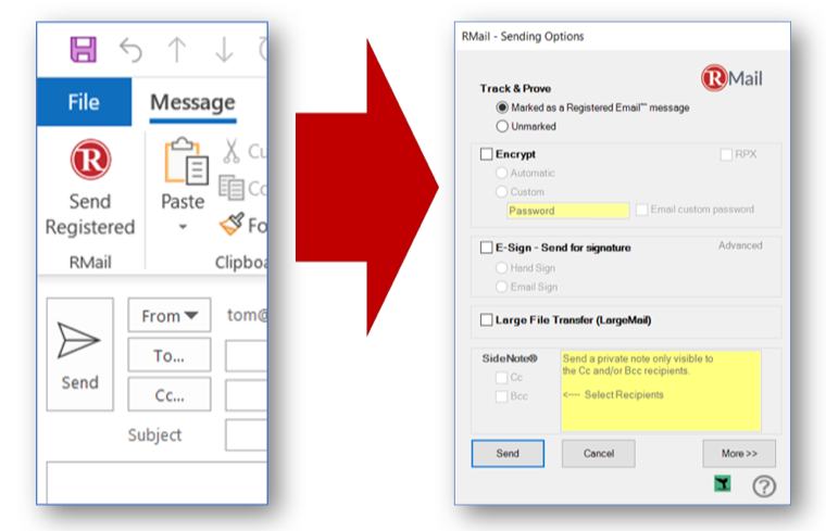 RMail Outlook