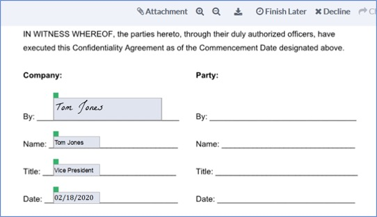 Prefill Document Before Sending for Signature
