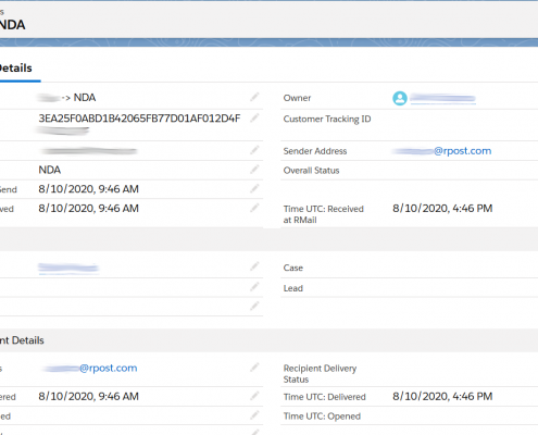 RMail for Salesforce Status Record