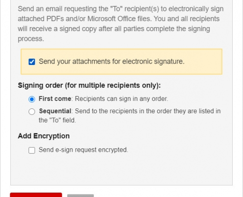 RMail for Gmail - E-Sign