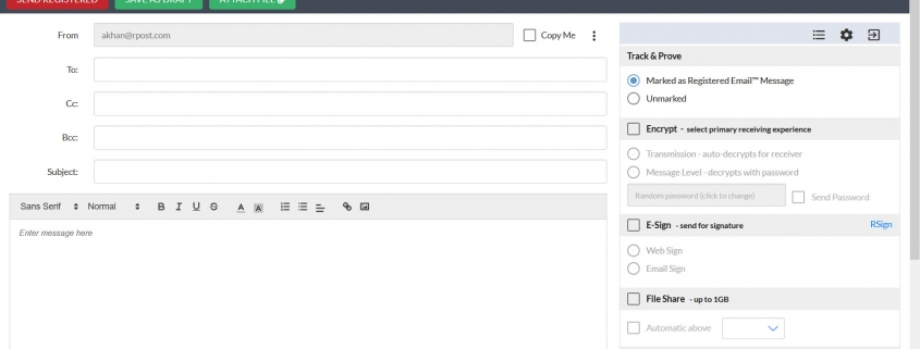 RMail Online - Compose