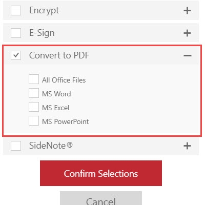 RMail for Outlook Online - Convert to PDF
