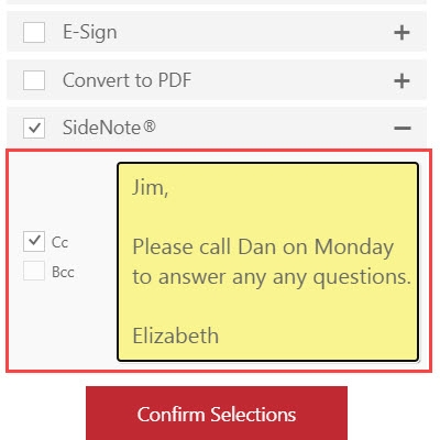 RMail for Outlook Online – SideNote Private Messages