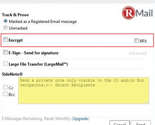RMail for Zimbra Compose Encrypted Email