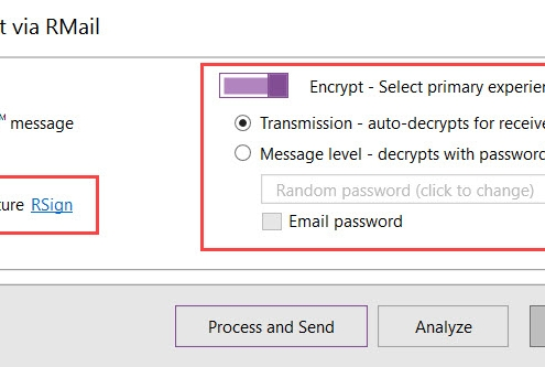 RMail for cleanDocs - Encrypted E-Signatures