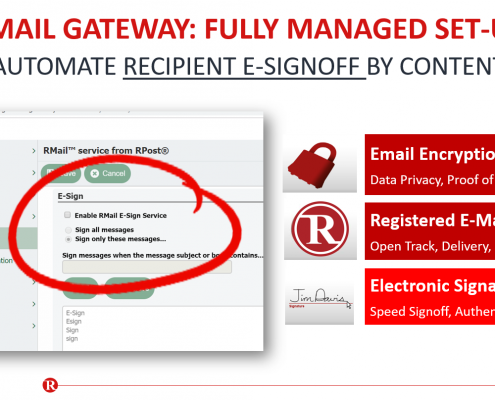 RMail Gateway - How to Enable RMail E-Sign