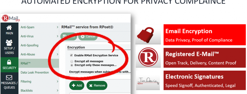 RMail Gateway - How to Enable RMail Encryption