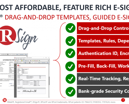 RSign E-Signatures - Feature Snapshot