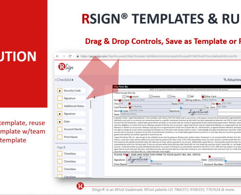 RSign E-Signatures – Templates Overview