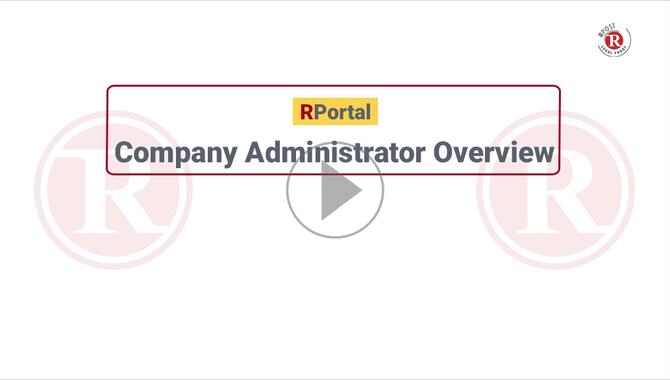 RPortal Customer and User Administration Video