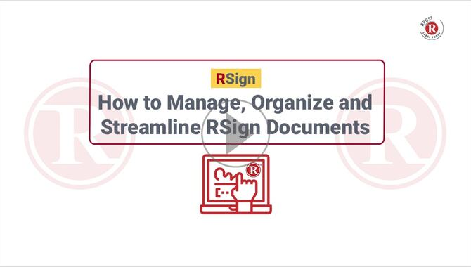 How to Manage, Organize & Streamline E-Signatures Documents