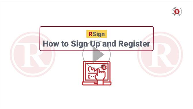 How to Signup & Register for the RSign E-Sign Service