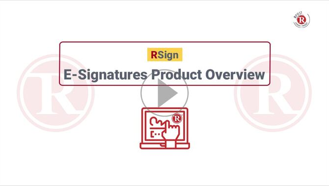 RSign E-Signatures Product Overview