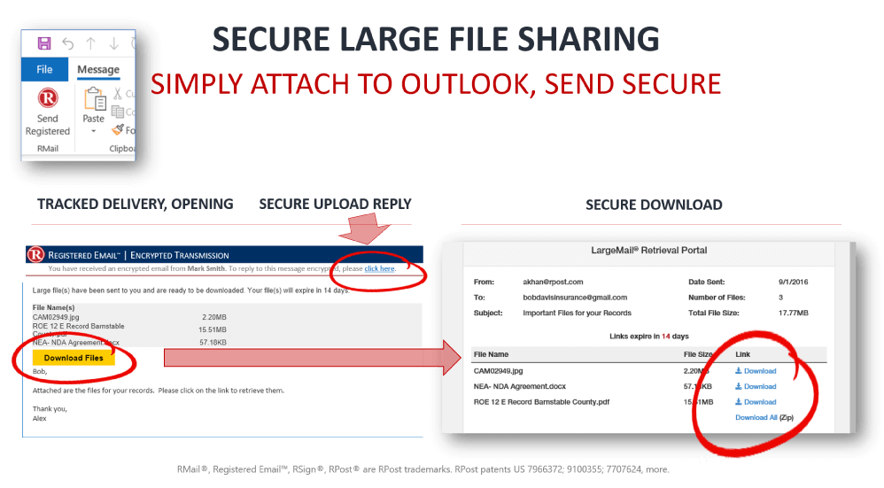 RMail Secure Large File Sharing