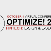 Optimize! E-SIGN & E-SECURITY Virtual Conference Provides Important New Insights