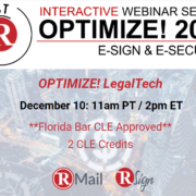 Final Optimize! Webinar of 2020 Promises Important New LegalTech Insights