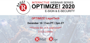 Permanent Link: Final Optimize! Webinar of 2020 Promises Important New LegalTech Insights