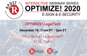 RPost Announces its LegalTech Partner Powerhouse at Optimize! LegalTech