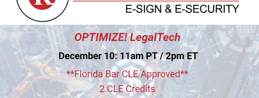 RPost Announces its LegalTech Partner Powerhouse at Optimize! LegalTech