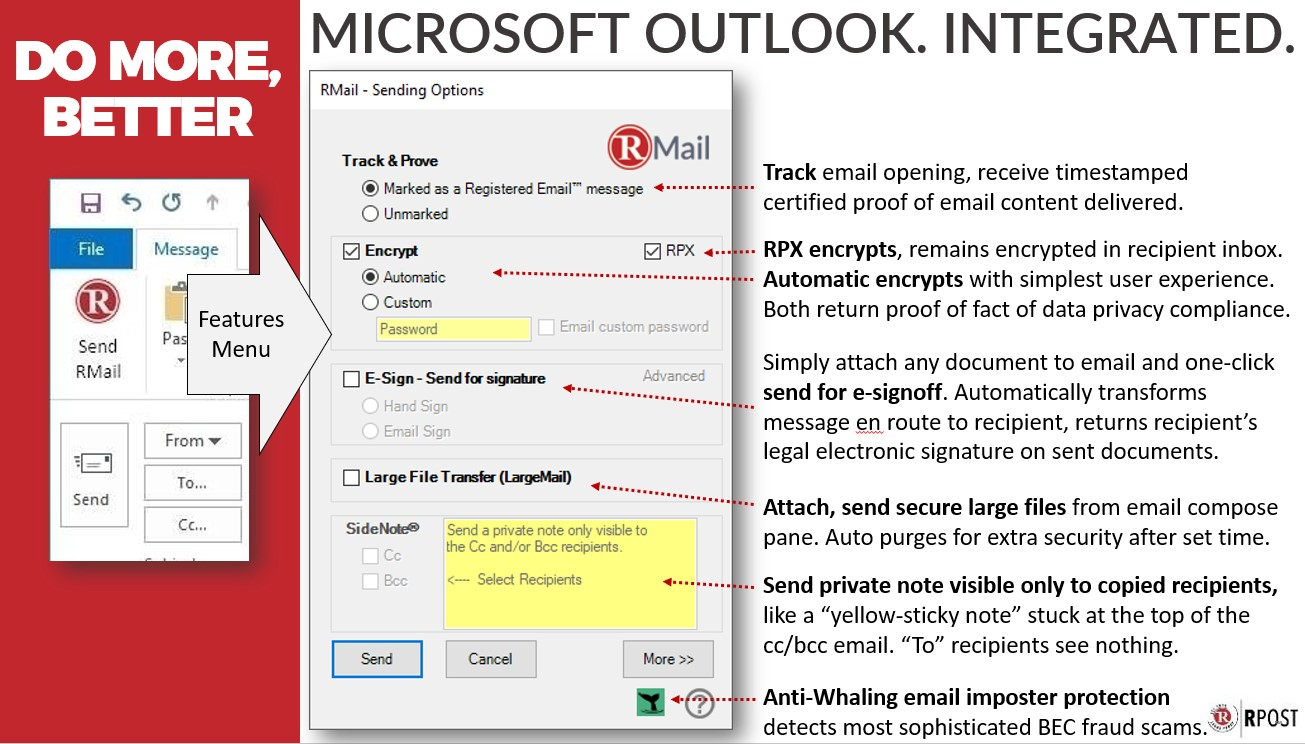 Microsoft Outlook Integrated