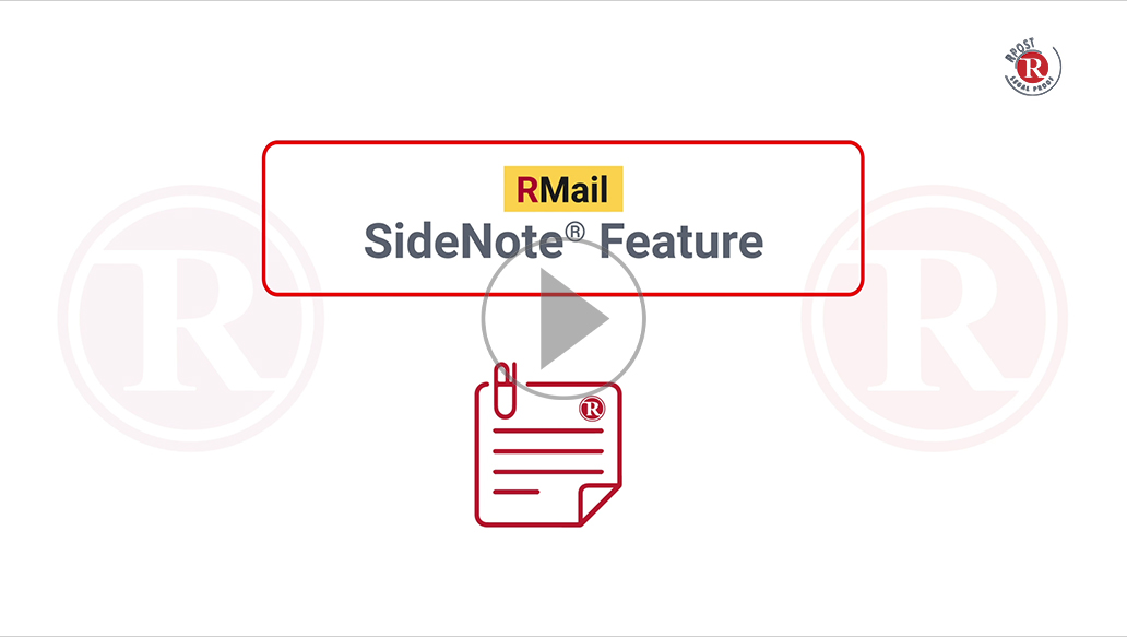 How-To Use the SideNote® Feature in RMail