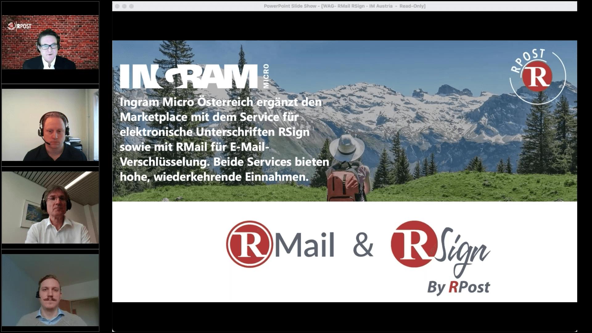 Ingram Micro Österreich präsentiert neue Services von RPost