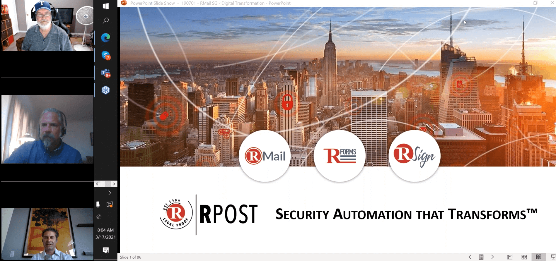 Smart Partner Webinar Series for RPost Partners: RMail Smart Encryption