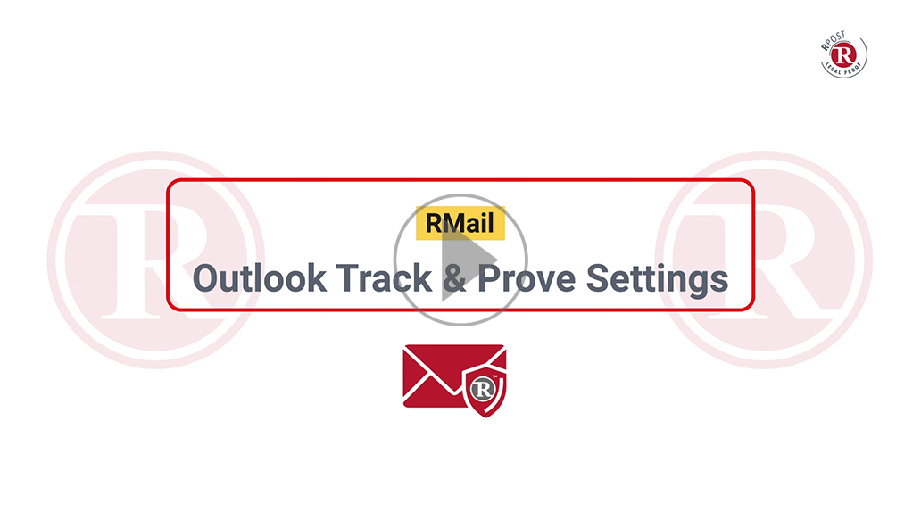 RMail Outlook Track & Prove Settings