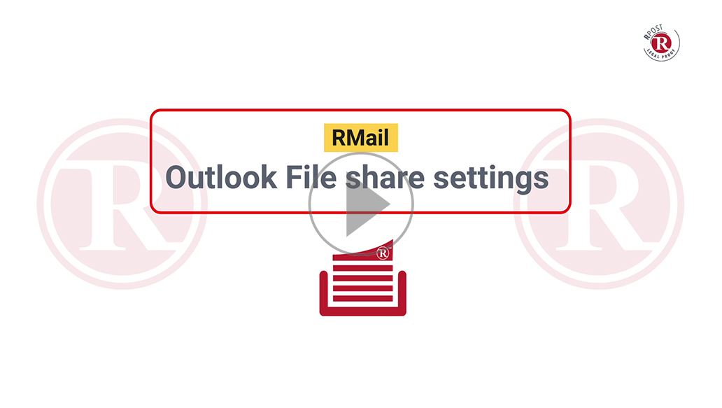 RMail Outlook File Share Settings