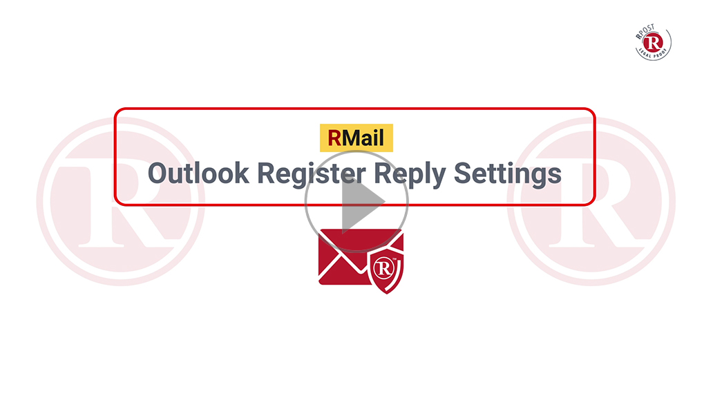 RMail Outlook Register Reply Settings