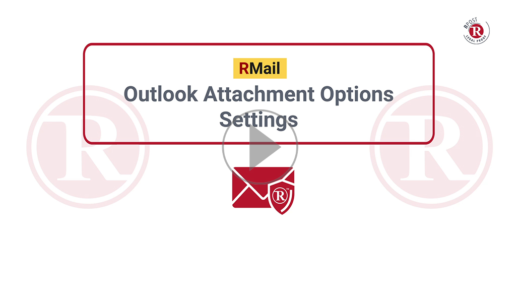 RMail Outlook Attachment Options Settings