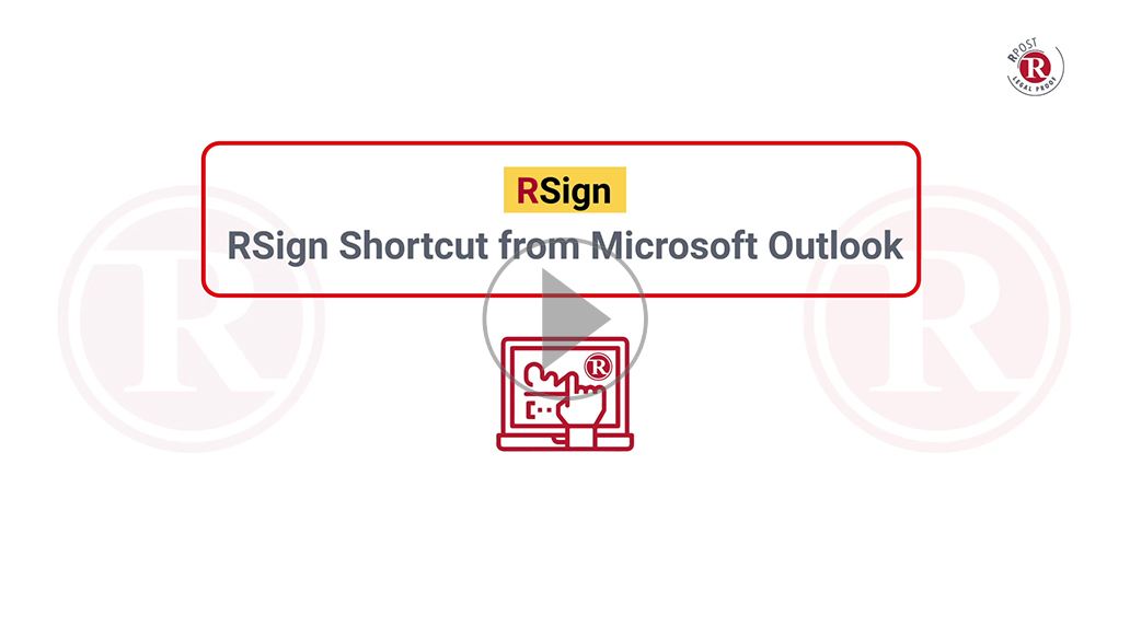 RSign Shortcut from Microsoft Outlook