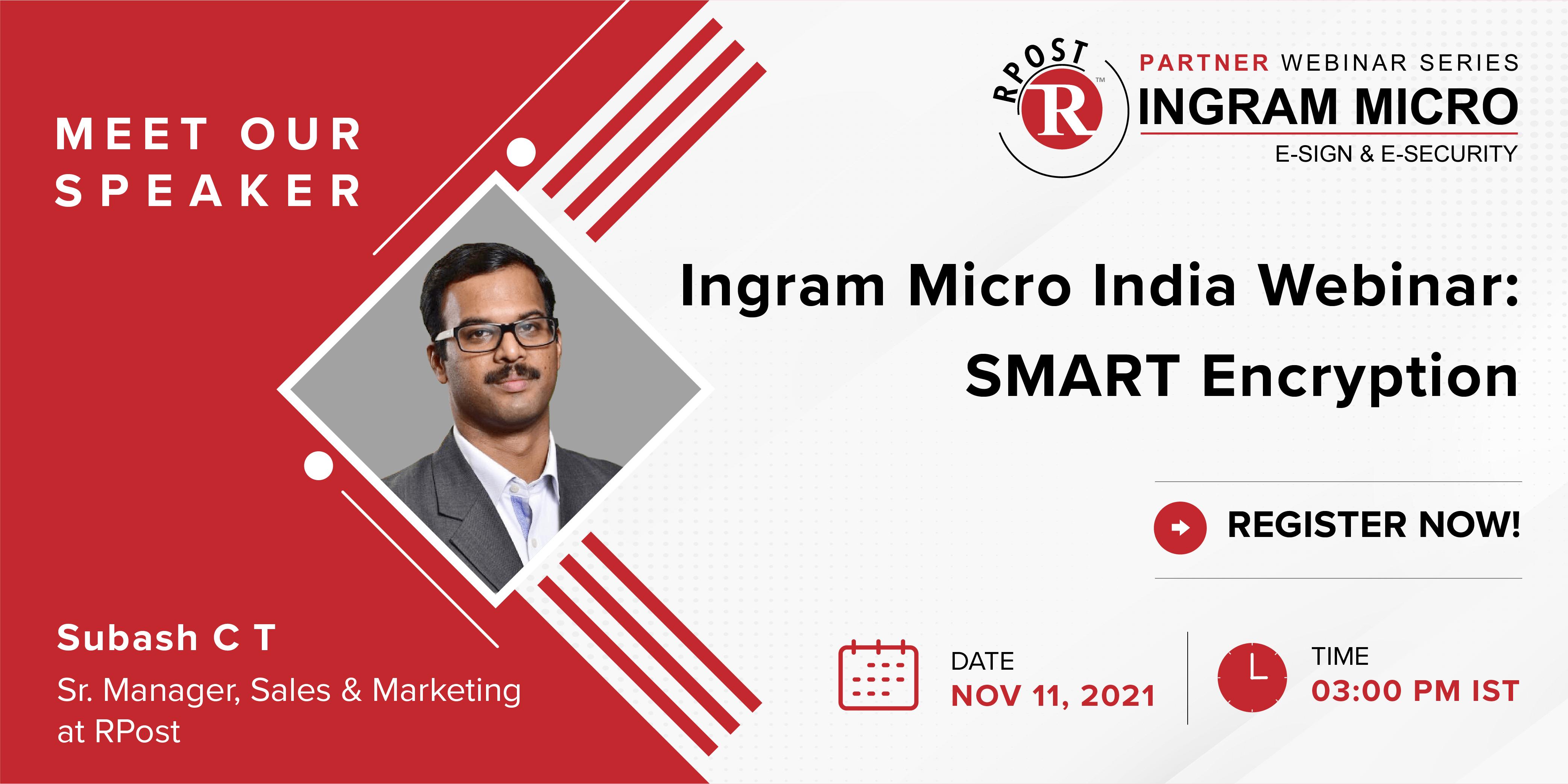 Ingram Micro India Webinar LP Banner